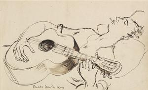 At Sea - Soldier Playing a Guitar, 1941