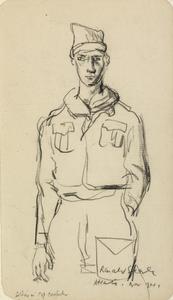 At Sea - Soldier in Cap Comforter, Atlantic, November 1941