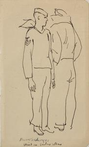 Wind in Sailor's Collars, USS Mount Vernon, 1941