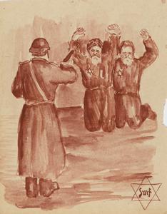 Two Jewish Men under Guard