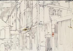 Shutters: Series of sketches for work in IWM