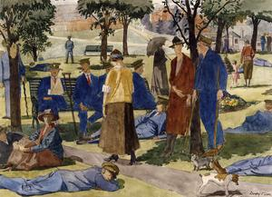Wounded Men on Duppas Hill, Croydon