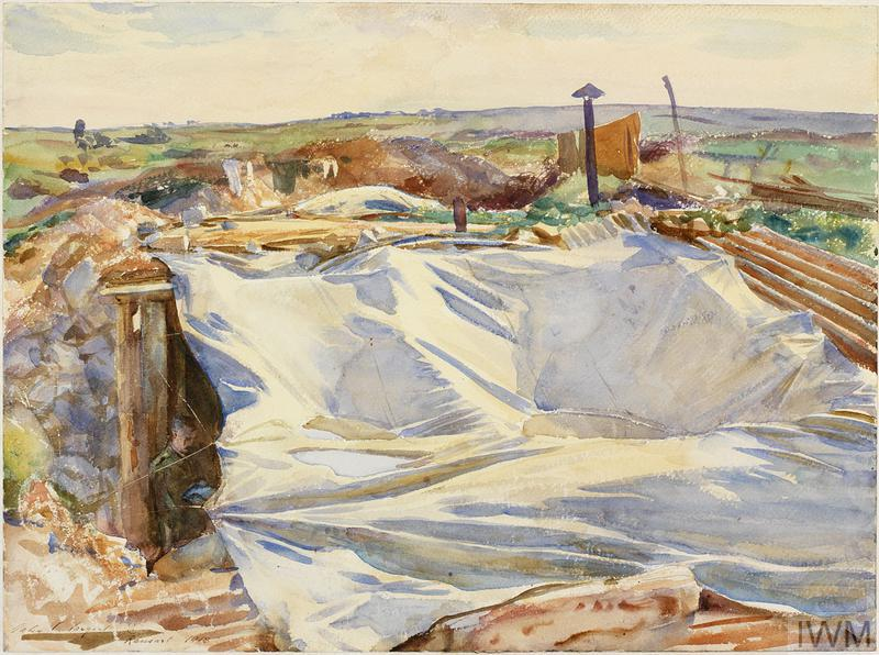 A Tarpaulin over a Dug-out, Ransart