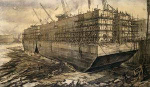 Building a Caisson for Mulberry Harbour