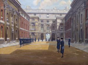 WRNS Ratings Drill and Inspection in the Courtyard of Queen Anne's House, Greenwich
