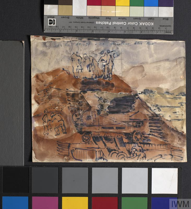 Quarry: Series of sketches for work in IWM