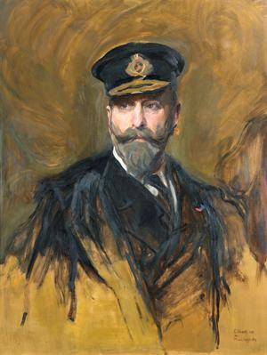 Admiral Prince Louis of Battenberg, later Admiral of the Fleet of Milford Haven, First Sea Lord, 9th December 1912 to 29th October 1914 (after Philip de Laszlo 1914)
