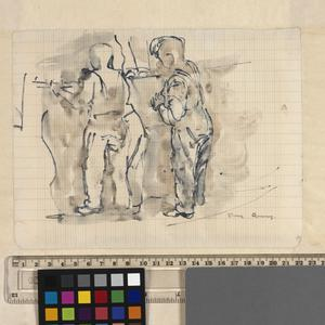 Stone Quarry: Series of sketches for work in IWM