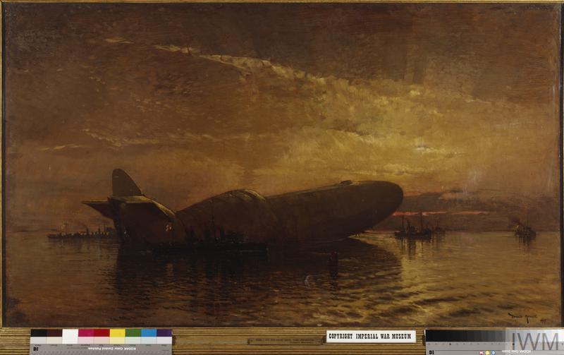 St George and the Dragon: Zeppelin L15 in the Thames, April 1916