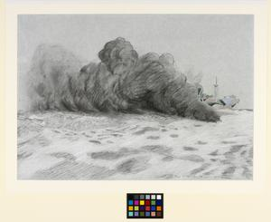 A Merchant Ship Dropping a Smoke Box