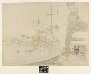 'Aurora' and 'Ardiel' Taking Mines Aboard at Grangemouth