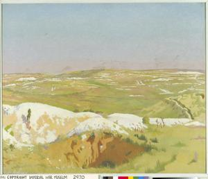 The Somme: A Clear Day. View from the British trenches opposite La Boisselle, showing German front line and mine craters