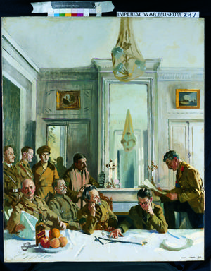 Some Members of the Allied Press Camp, with their Press Officers