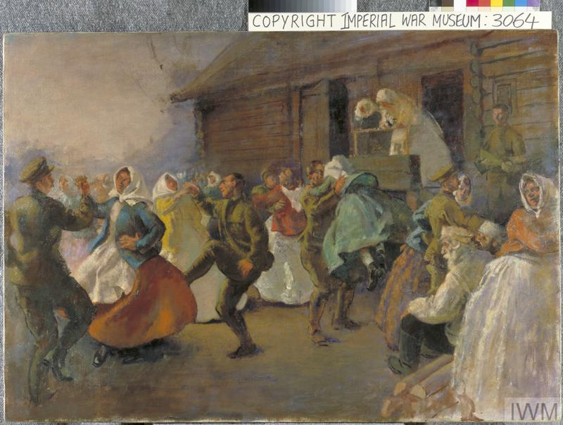 Russian Soldiers Dancing With Peasant Women Art Iwm Art 3064