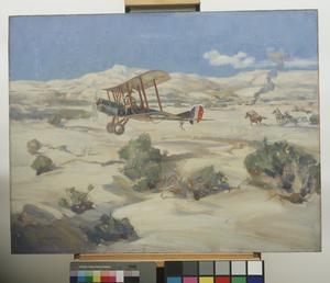 Lieut McNamara Winning the VC : 20th March 1917, in the course of a bombing raid in the Wadi Hesi (10 miles ENE of Gaza, Palestine)