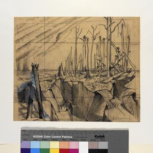 Study for Oppy Wood, 1917. (IWM:ART 2243)