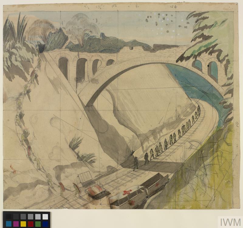 Study for the Bridge over the Arras-Lens Railway (IWM ART 1163)
