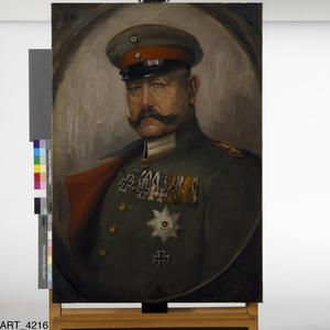 Field-Marshal Von Hindenburg: Portrait formerly hung in the German battle cruiser Hindenburg