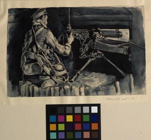 Machine-gunner, Maricourt Wood, 1916