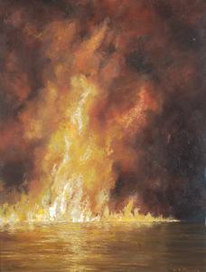 Burning Oil on a Slack Tide