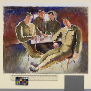 Four Soldiers Seated at a Table, 1942