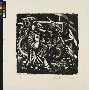 Untitled 1985 (Death and the Bulldozer with Three Drummers)