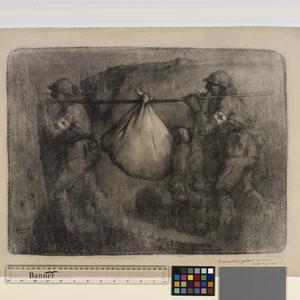 Broncardiers portant un mort - cote du poivre