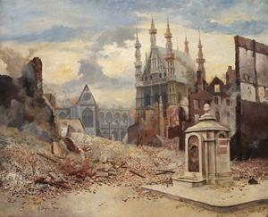 After the Shelling, Louvain 1914