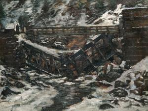 Destroyed Bridge, Carpathian Mountains, Roumanian Front