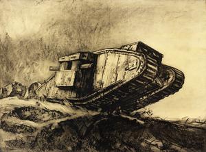 War Drawings By Muirhead Bone: Tanks