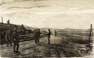 War Drawings By Muirhead Bone: The Night Picket