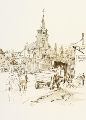 War Drawings By Muirhead Bone: A Village on the Somme