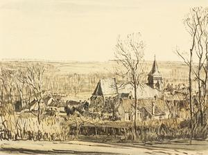War Drawings By Muirhead Bone: Spring in Rollencourt Village