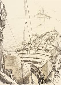 War Drawings By Muirhead Bone: The Fo'c'sle of a Battleship