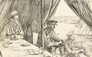 War Drawings By Muirhead Bone: Waiting for the Wounded