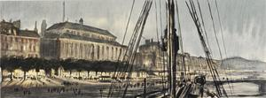 War Drawings By Muirhead Bone: Rouen from the Deck of a Hospital Ship