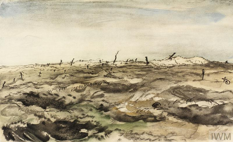 War Drawings By Muirhead Bone: A Via Dolorosa, Mouquet Farm