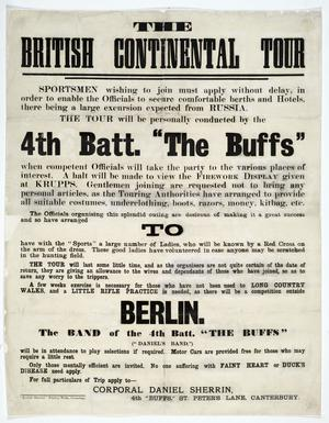 THE BRITISH CONTINENTAL TOUR