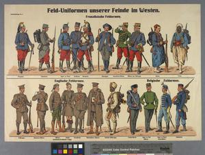 Feld-Uniformen unserer Feinde im Westen [Field Uniforms of Our Enemies in the West]