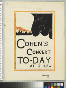 Cohen's Concert To-day