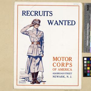 Recruits Wanted - Motor Corps of America