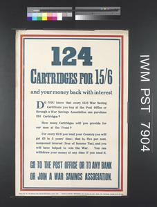 124 Cartridges for 15 Shillings and Sixpence