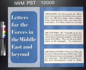 Letters for the Forces in the Middle East and Beyond