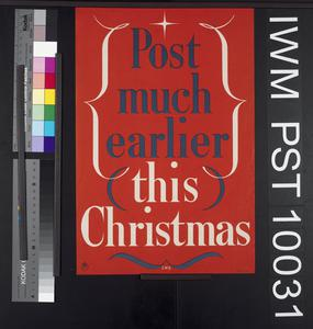 Post Much Earlier this Christmas