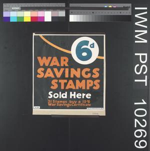 Sixpence War Savings Stamps