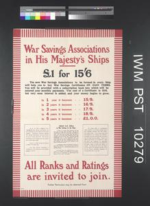 War Savings Associations in His Majesty's Ships
