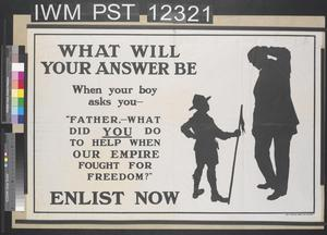 What Will Your Answer Be - What Did You Do to Help When Our Empire Fought for Freedom?