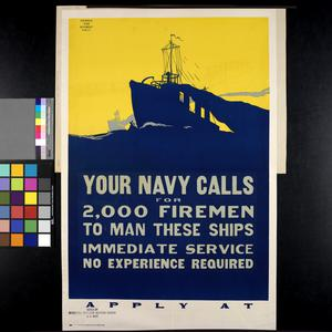 Your Navy Calls for Two Thousand Firemen