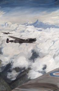Kenya - Lincolns of No.49 Squadron Attacking Hideouts with Bombs, Mount Kenya Beyond.