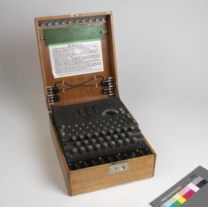 Enciphering Equipment, 3-Rotor Enigma G (Schlussel) Machine: German